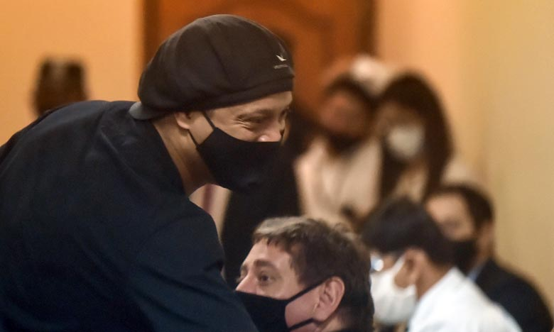 Ronaldinho et son frère étaient venus au Paraguay pour faire notamment la promotion d'un livre, avant d'être appréhendés pour possession et usage de passeports falsifiés Ph : AFP
