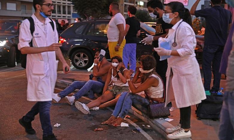 Les services de l'ambassade n'ont reçu pour le moment aucune information sur d'éventuelles victimes parmi la communauté marocaine résidant au Liban. Ph. AFP
