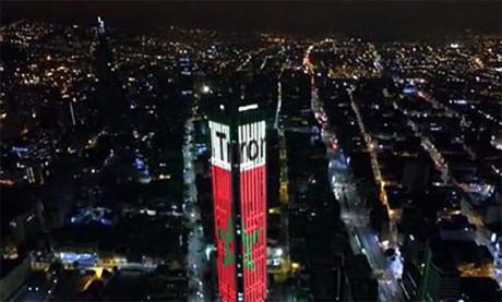 Bogotá s'illumine aux couleurs du Maroc  à l'occasion de la Fête du Trône