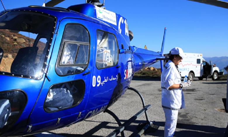 Le nombre total des interventions menées via hélicoptère depuis le début de l'activité de ce service s'élève à 157. Ph-MAP/Archives.