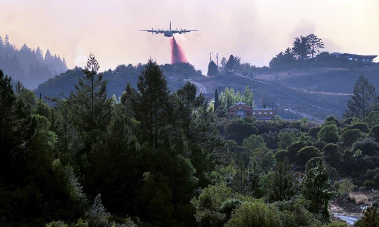 Le LNU Lightning Complex, situé au nord de San Francisco, est désormais le deuxième incendie le plus dévastateur de l'histoire de la Californie, avec plus de 127.000 hectares détruits. Ph :  AFP