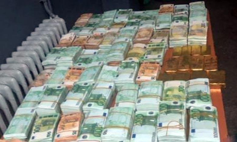 Oujda: saisie de plus de 2 millions d'euros et 20 kg d'or