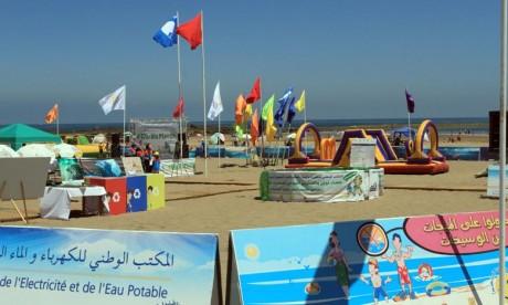 Le Pavillon bleu hissé pour la 14e année consécutive à la plage de Bouznika
