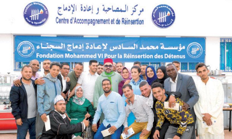 Casablanca : S.M. le Roi lançant le Programme national d'appui aux micro-projets et à l'auto-emploi des ex-détenus.