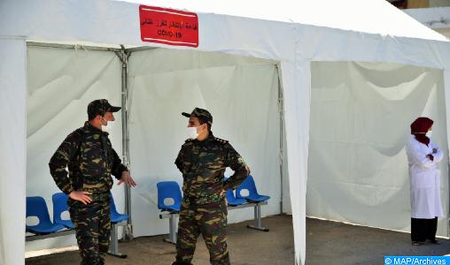 Précision:  L'hôpital de campagne de Sidi Yahya du Gharb est bien destiné aux cas asymptomatiques