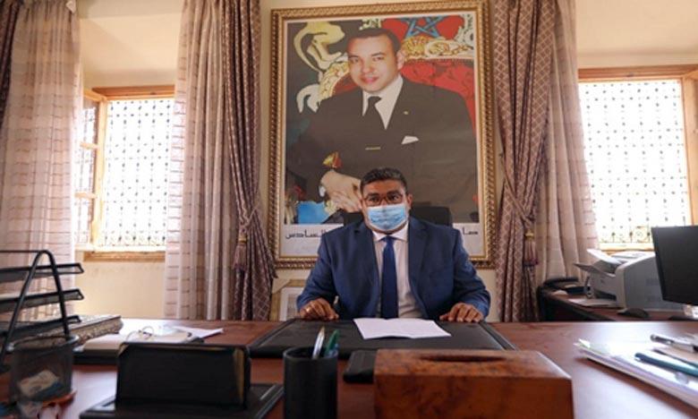 Mohamed Chakik a été élu président du Conseil de la commune de Ouahate Sidi Brahim,avec 20 des 22 voix des membres du Conseil ayant pris part à l'opération de vote. Ph : MAP