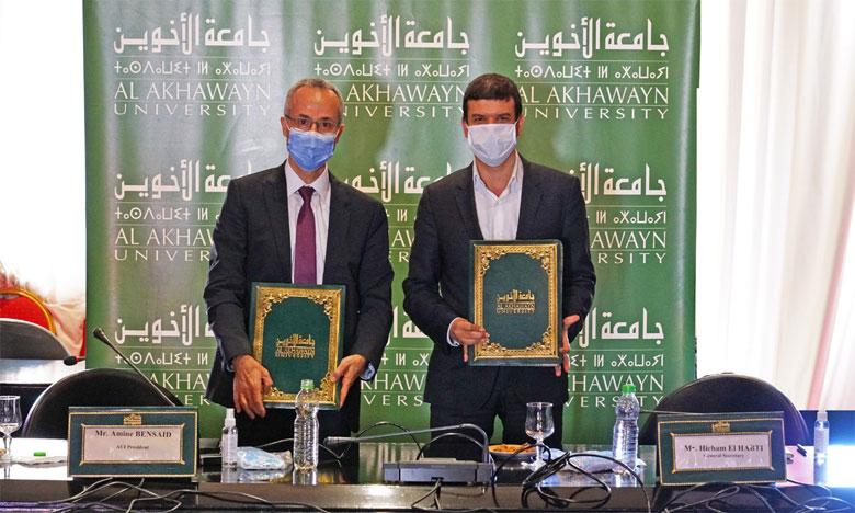 Le mémorandum d'entente a été signé le 11 septembre à Ifrane par Amine Bensaid (à gauche) et Hicham El Habti