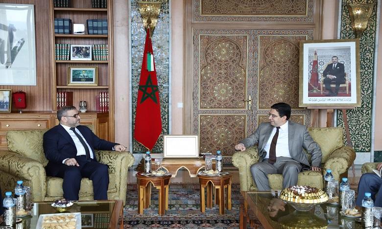 Ce dialogue intervient quelques semaines après la visite au Maroc du président du Haut conseil d'État libyen, Khaled Al Mechri et du président du parlement libyen, Aguila Salah. Ph. MAP