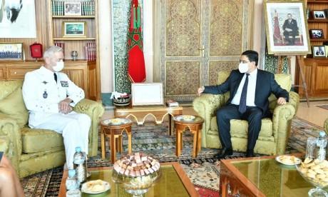 M. Nasser Bourita reçoit à Rabat le Chef d'État-Major des Armées françaises