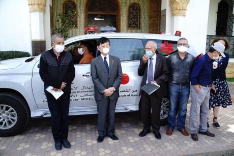 Le Japon fait don d'ambulance médicalisée au Croissant rouge Marocain