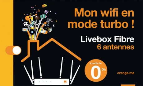 Orange met sur le marché  sa Livebox Fibre à 6 antennes