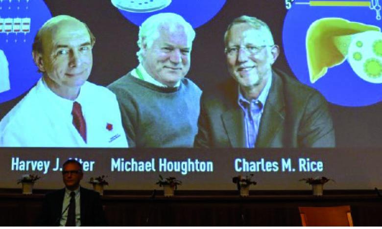 Les trois découvreurs du virus de l'hépatite C distingués
