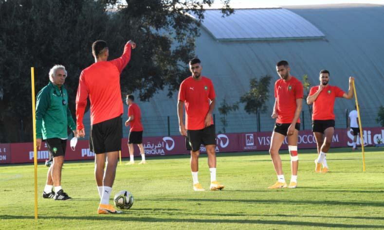Les Lions de l'Atlas à pied d'œuvre au complexe Mohammed VI de football en prévision des deux matchs amicaux contre le Sénégal et la RD Congo.
