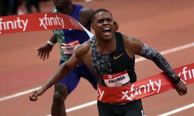 Le sprinteur américain Christian Coleman, champion du monde en titre du 100 m, a été suspendu deux ans pour manquements à ses obligations de localisation antidopage. Ph :  AFP