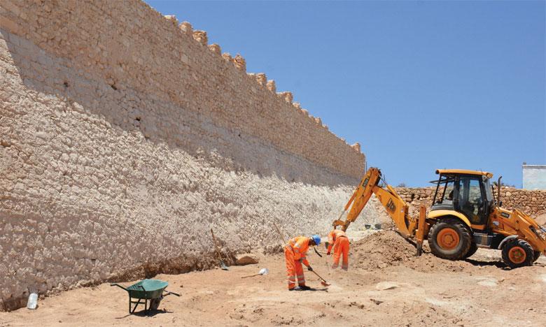 Mercredi dernier, les fouilles supervisées par des archéologues marocains et espagnols ont permis de déblayer l'entrée principale de la Casbah.