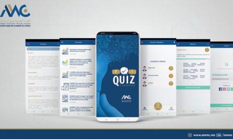 Quiz Finance, l'application mobile de l'AMMC