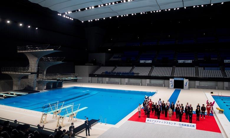 Le Centre aquatique de Tokyo accueillera des épreuves de natation, de plongeon et de natation artistique. Ph :  AFP