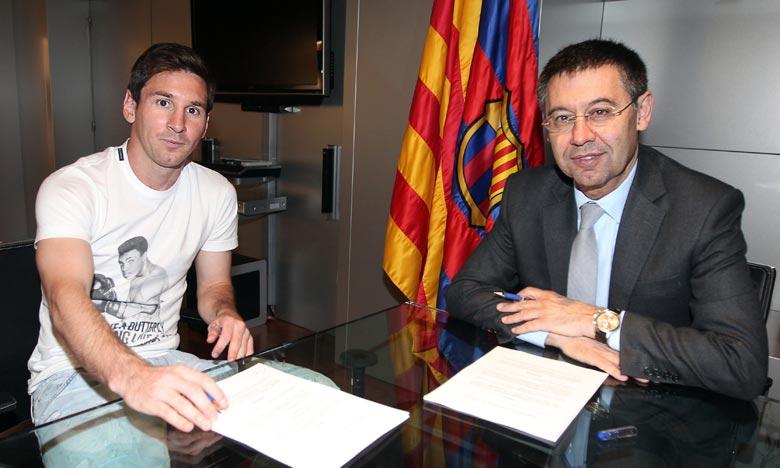 «Je comprends qu'il se soit fâché, mais on a besoin de Messi, on a besoin de lui à Barcelone», a insisté Josep Maria Bartomeu, président du club. Ph : AFP