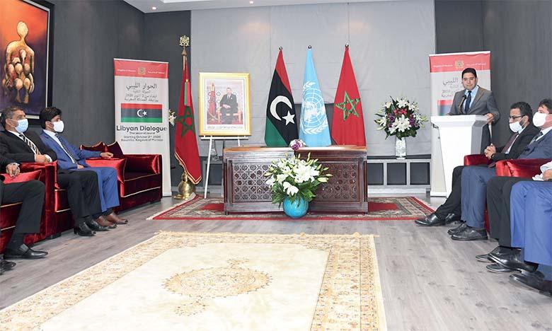 Nasser Bourita : «Le soutien clair de S.M. le Roi Mohammed VI à la stabilité de la Libye est parmi les facteurs de réussite du dialogue interlibyen»