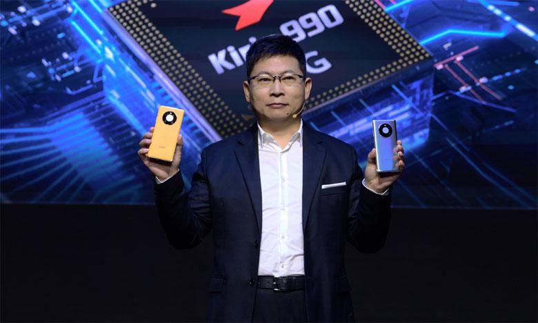 Le directeur exécutif et PDG de Huawei Consumer Business groupe, Richard Yu, lors de la conférence internationale dévoilant la nouvelle gamme.