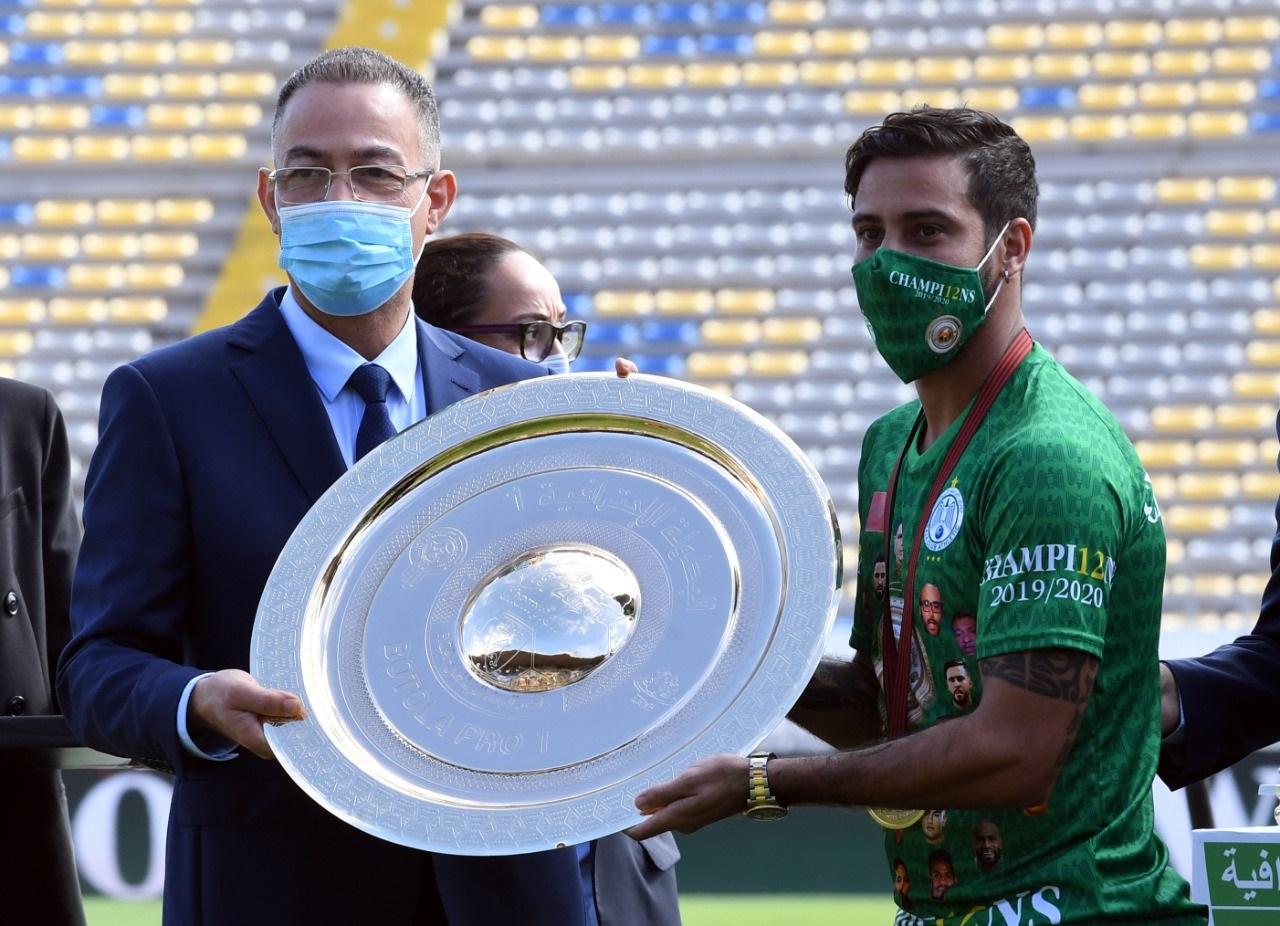 Le Raja reçoit son trophée dans la joie au complexe Mohammed V