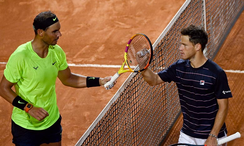 Rafael Nadal, 2e mondial sur la terre battue parisienne avec ses 12 coupes des Mousquetaires, y retrouvera le seul homme à l'avoir battu sur ocre cette année, l'Argentin Diego Schwartzman (14e). Ph : AFP