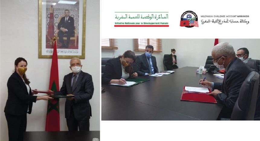 Accord de partenariat entre l'agence MCA-Morocco et la Coordination nationale de l'INDH