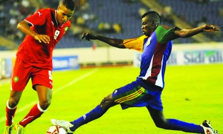 Phase de jeu d'une précédente rencontre entre le Maroc et la Centrafrique.Ph. Archives