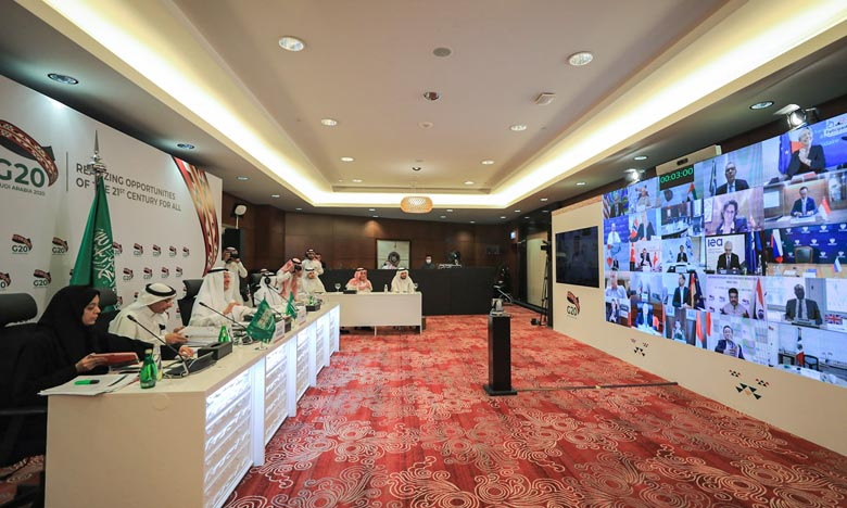 La décision du G20 a été prise lors d'une réunion virtuelle présidée par l'Arabie Saoudite. Les pays ayant demandé à bénéficier de cette option n'auront à rembourser leurs dettes jusqu'au 30 juin prochain. Ph :  AFP