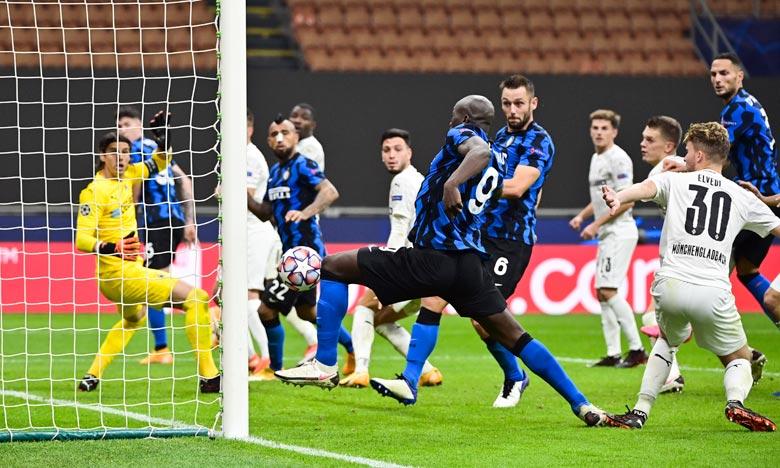 L'attaquant belge de l'Inter Milan, Romelu Lukaku, lors du match contre le Borussia Moenchengladbach, au stade San Siro de Milan. Ph :  AFP
