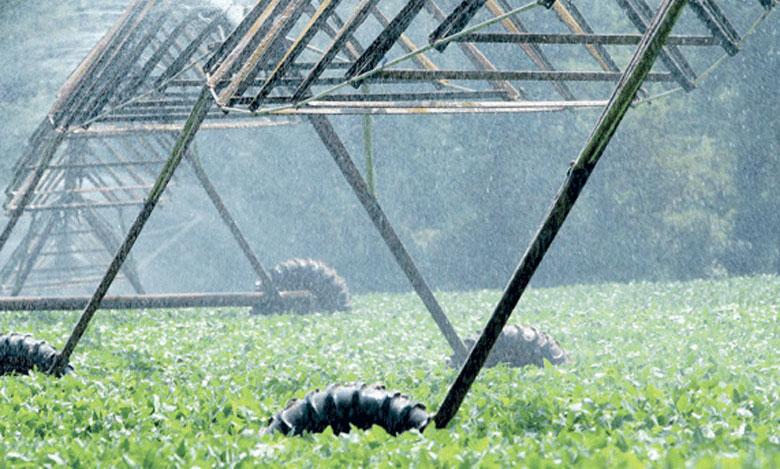 L'exécution des trois programmes d'irrigation a permis l'équipement de 750.000 ha en irrigation économe en eau.