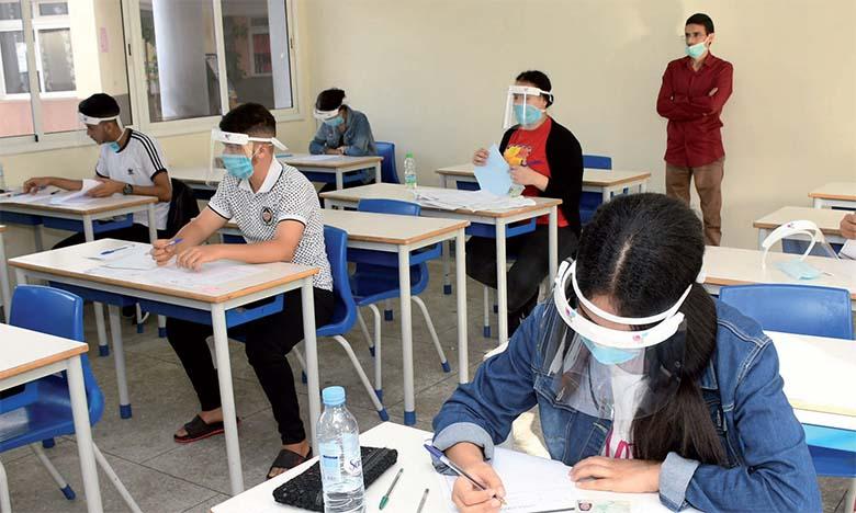 Quelque 321.000 candidats passent l'examen régional unifié, dont 38 atteints de coronavirus