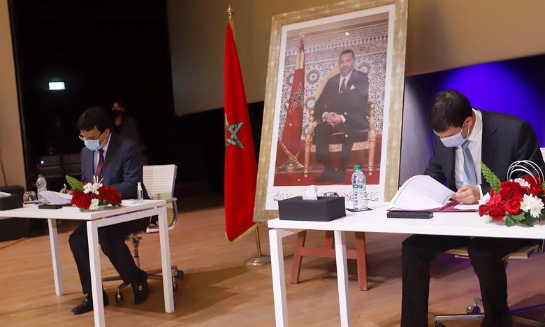 Signature d'un accord de partenariat entre l'Université Mohammed VI Polytechnique (UM6P)  et la province de Rhamna pour appuyer le développement durable et intégré. Ph : MAP