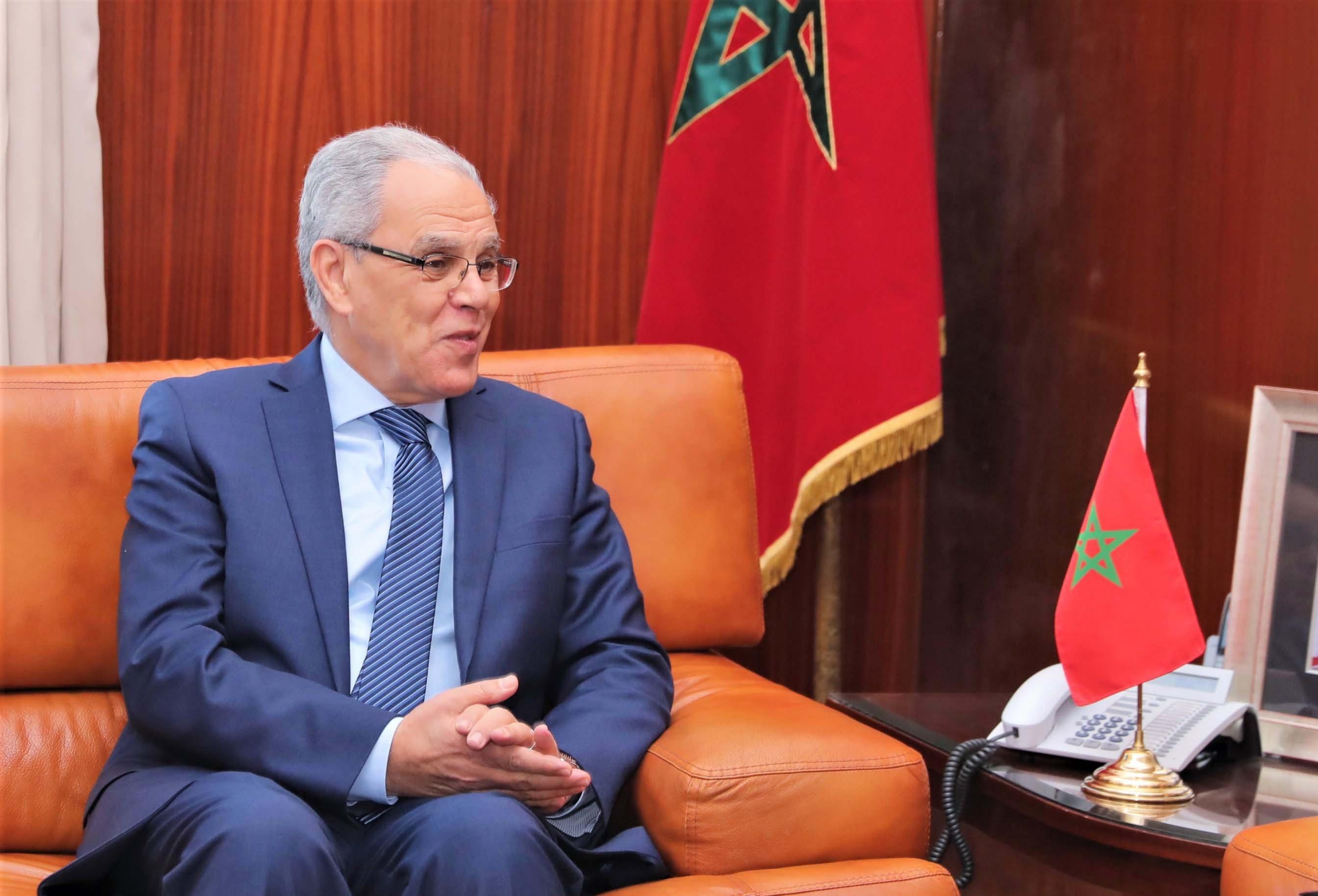 Abdeltif Loudyi s'entretient à Rabat avec le Général de Corps d'Armée britannique
