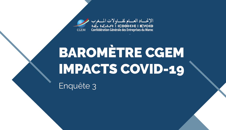 CGEM : Lancement du 3e Baromètre des impacts du Covid-19 sur les entreprises