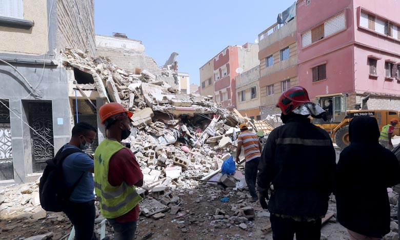 Aussitôt avisés de l'incident, les autorités locales ainsi que les services de sécurité et de la protection civile se sont rendus sur les lieux pour prendre les mesures de précaution nécessaires. Ph : MAP