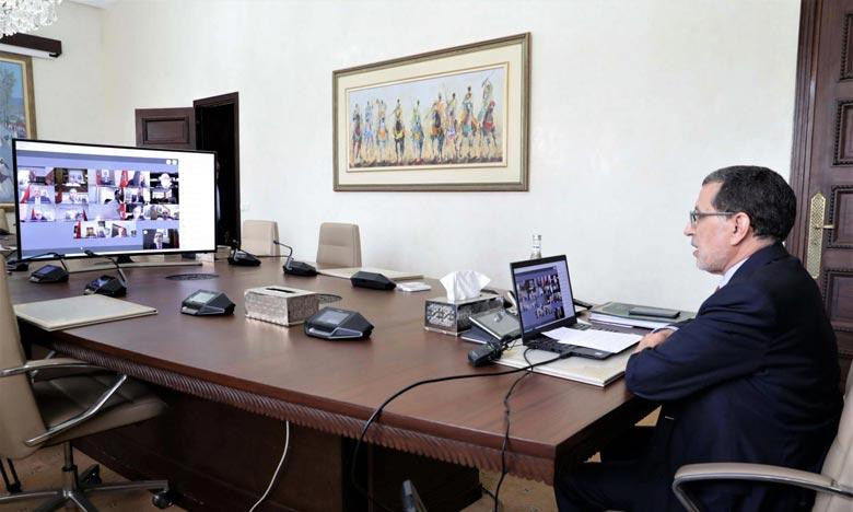 Le Conseil de gouvernement s'est réuni sous la présidence du chef du gouvernement, Saad Dine El Otmani . Ph : MAP