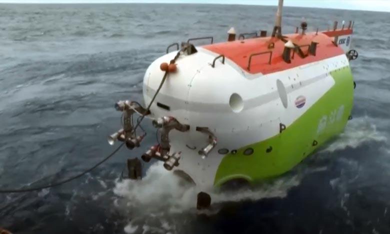 Le «Fendouzhe» est descendu au fond de la fosse océanique la plus profonde sur Terre, située dans le Pacifique occidental, avec trois chercheurs à son bord. Ph : DR