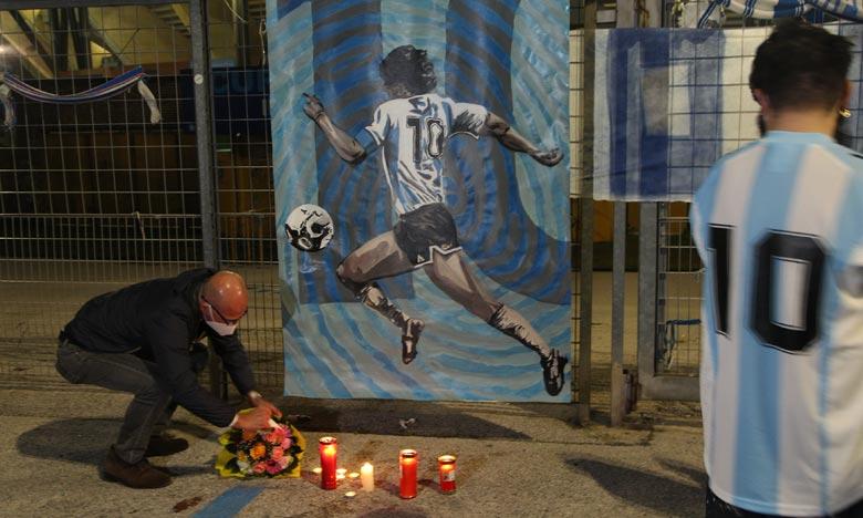 Diego Maradona disparu, à l'âge de 60 ans, a brillé à Naples dans les années 1980.  Ph : AFP