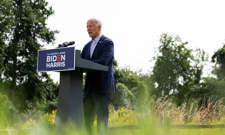 Joe Biden a présenté un plan de 1.700 milliards de dollars afin que les Etats-Unis atteignent d'ici 2050 la neutralité carbone. Ph :  AFP