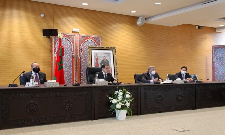 Cette rencontre a été marquée par la présence du Conseiller de S.M. le Roi, Fouad Ali El Himma, du ministre de l'Intérieur, Abdelouafi Laftit et du ministre des Affaires étrangères, Nasser Bourita. Ph. DR