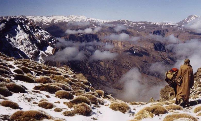 La DGM prévoit pour la journée de ce mercredi, de chutes de neiges par endroits sur le Haut Atlas dont les sommets dépassant 2.300 m.  Ph : DR