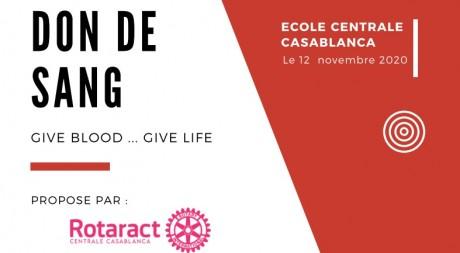 Rotaract Centrale Casablanca organise une campagne de don de sang