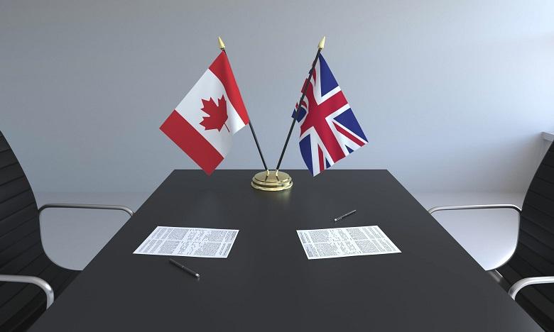 Londres conclut avec le Canada un accord commercial post-Brexit