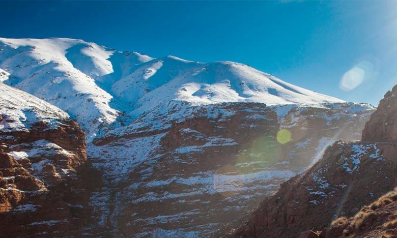 La Direction générale de la météorologie prévoit pour ce mercredi, quelques chutes de neige nocturnes à partir de 2.100 m sur les sommets du Haut Atlas. Ph : DR