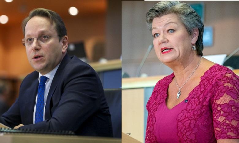 Maroc-UE: Les commissaires européens Johansson et Várhelyi mardi au Maroc