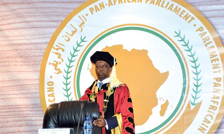 Le président du Parlement panafricain, Roger Nkodo Dang.