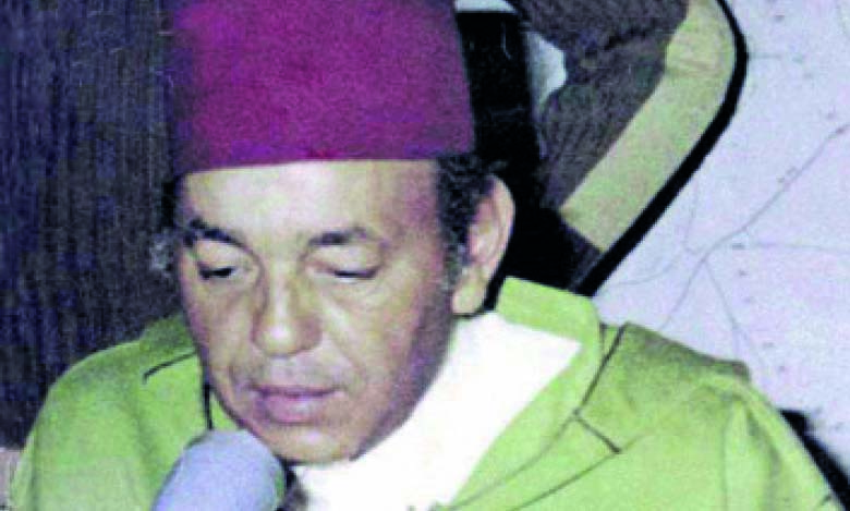 S.M. le Roi Hassan II annonçant la Marche verte.