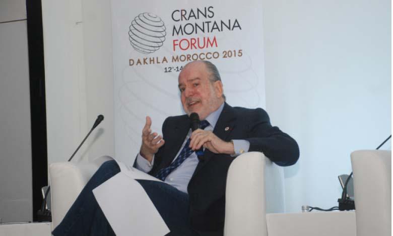 Jean-Paul Carteron, président fondateur du Forum Crans Montana.  Ph kartouch