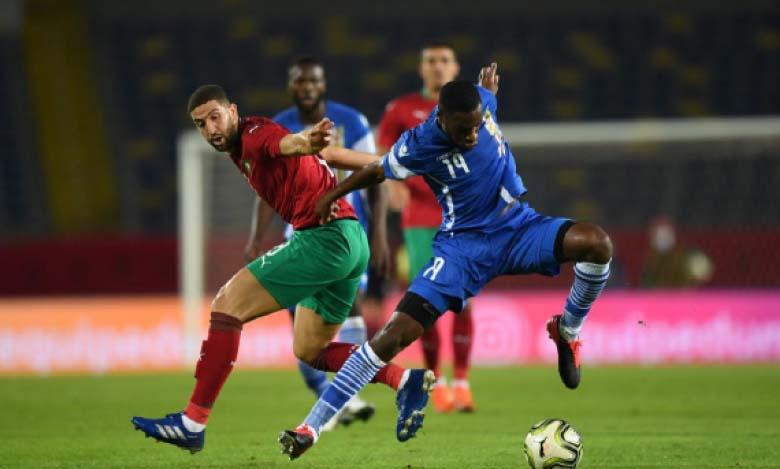 Séquence du match Maroc-Centrafrique.